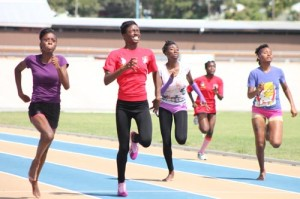 The U-20 girls' 100m was a keen fight with Delicia Reece of Prescod House winning ahead of Kayla Worrell of Sobers House.