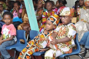 These little ones were captivated by the performances.