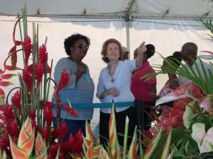 Opposition Leader, Mia Mottley at Agrofest
