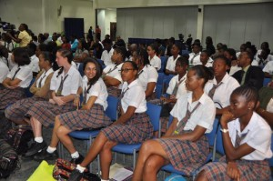 Students from the various schools represented in the competition turned out to support the participants.