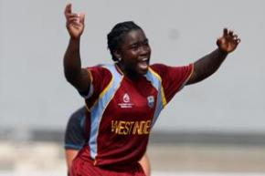 Deandra Dottin picked up four for 12 to help the Windies women to a winning start.