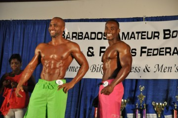 Overall winner Ryan Brewster (left) is all smiles. At right is his main rival on the night, Duaine Lucas.