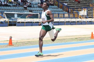 Rivaldo Leacock was all bandaged up but that did not stop him from winning the under-17 boys' 400m for Lester Vaughan.