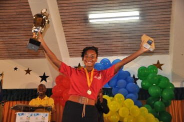Samantha Yearwood, the top winner in this year's competition could not contain her excitement.