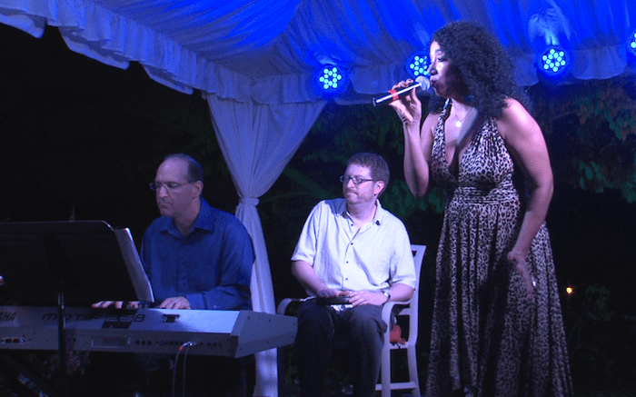 One of the performers of Broadway To Barbados.