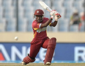 Deandra Dottin top scored with 40 but fell in th 19th over. (Photo courtesy Cricinfo)
