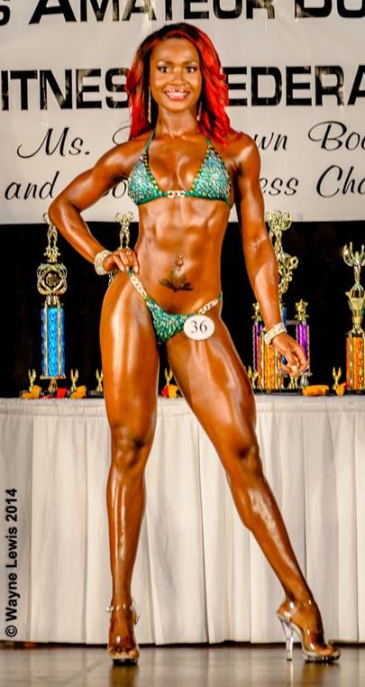 Domini Alleyne - winner of Miss Senior Fitness