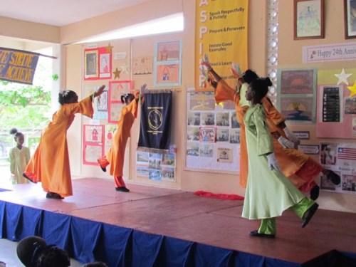 Students celebrating in dance