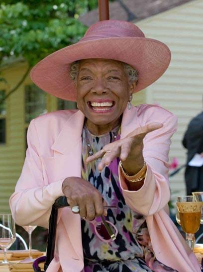 The late Maya Angelou
