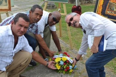 Representative of Cuba took part in the wreath laying ceremony.