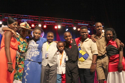 The nine finalists in the 13 to 18 Junior Monarch category .