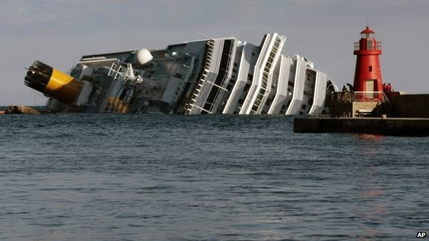 The cruise ship capsized in January, 2012, killing 32 people.