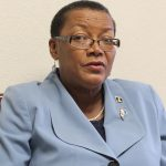 Senator Maxine McClean updating the media on plans for the Barbados Network Consultation Third Diaspora Conference.