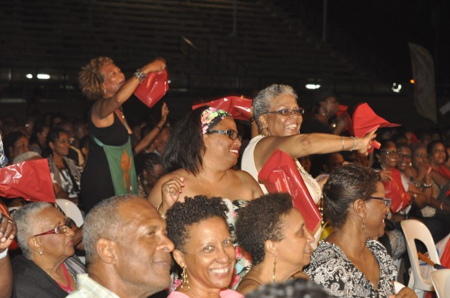RPB fans waving their red bags