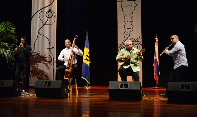 The Ensable Gurruffo thrilled the large audience at last night's free concert at the Frank Collymore Hall.