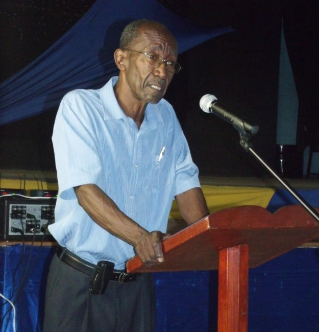 Sir Frank Alleyne delivering  lecture last night.