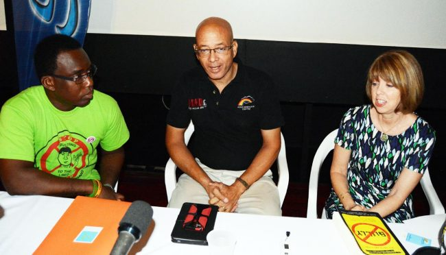From left; Supreme Counseling CEO Shawn Clarke, ADHD Resource Centre's Al Layne, Director of Sheraton Mall Sharon Oran.