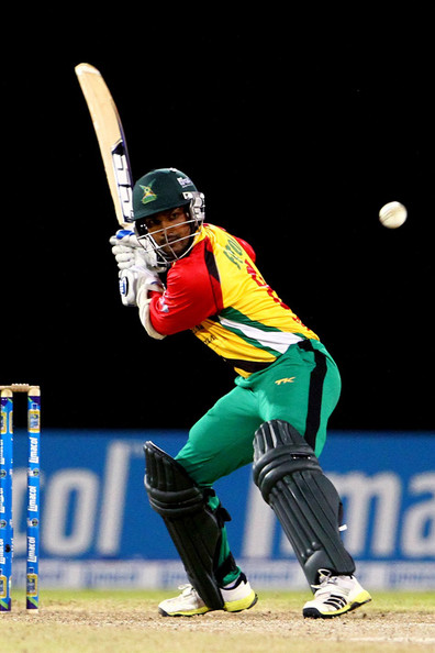 Guyana Amazon Warriors' captain Denesh Ramdin was out for a duck.