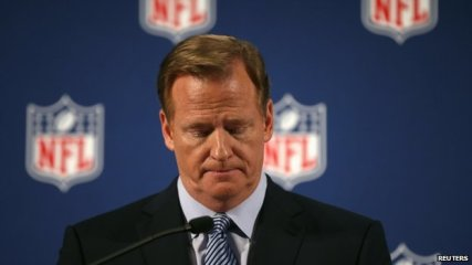 Goodell apologies for failing to deal to with domestic violence cases in the league.