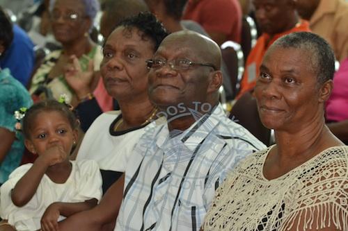 Members of Moore's family