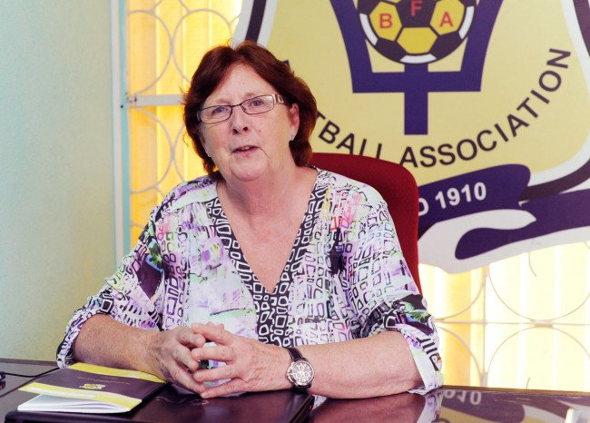 New BFA general secretary Joyce Stewart at her office today.