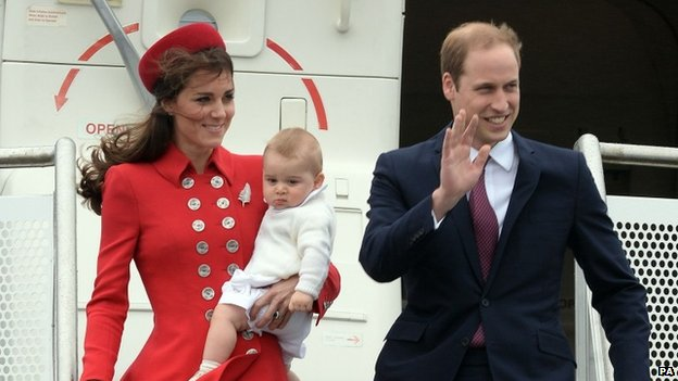 They visited New Zealand and Australia with Prince George earlier this year.