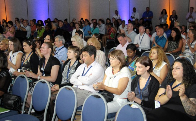 Attendees at this morning's tour operators' conference.