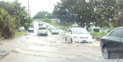 Flooding in Westmoreland, St James this morning.