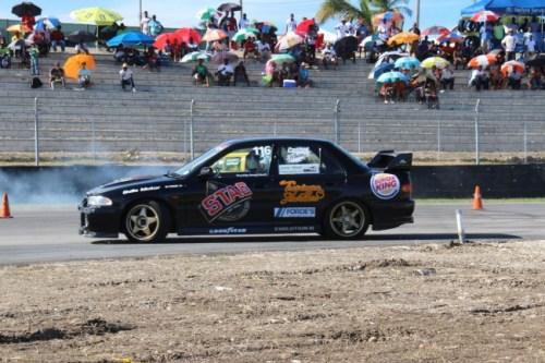 Matthew Forde roars around the circuit.