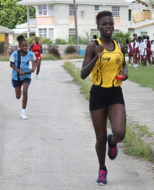 Rosette Hoyte made her presence felt when she came from behind to lead Foundation to victory in the under-15 relay.