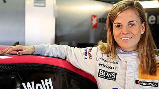 Susie Wolff will be in Barbados in December.