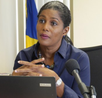 Minister of Labour  Dr Esther Byer-Suckoo