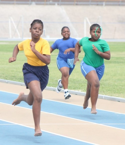 Destinee Harris of Hurley House won the big and beautiful race for her house.