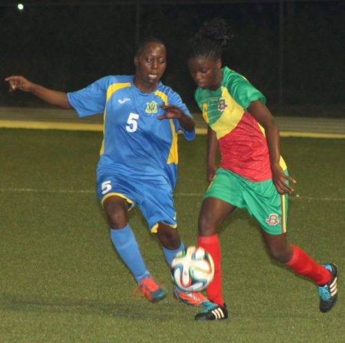 Kimberley Ellis (left) will be looking to shine for Barbados once again this weekend.