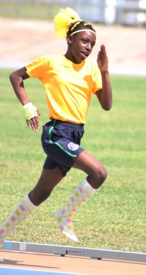 Victrix ludorum Halee Collymore had a comfortable win in the under-13 girls 400m.