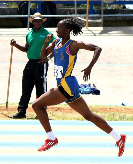 Akeila Knight of Combermere won the under-20 girls 800m.