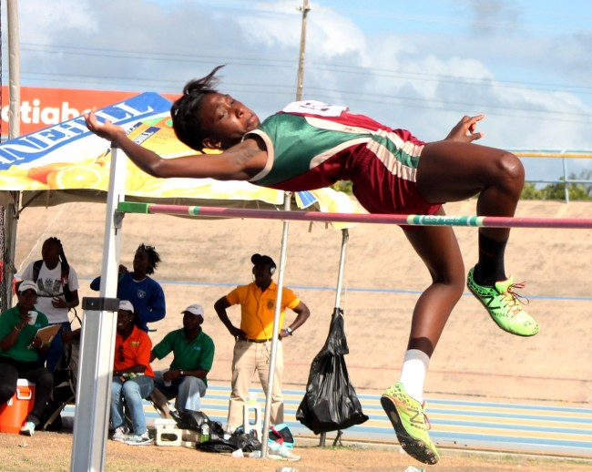 Ashantia Phillips of Graydon Sealy Secondary won the under-20 girls high jump.