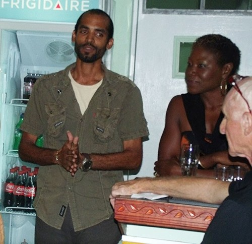 Bank On Me Season Two winner Sean Carter telling of the challenges of the competition. At right Bajan Fusion founder Celia Collymore.