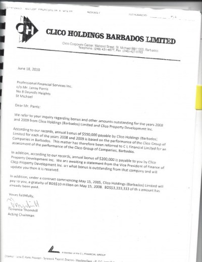 Clico v. Leroy Parris Branlee and the Estate of David Thompson Scans[1] (dragged) 2