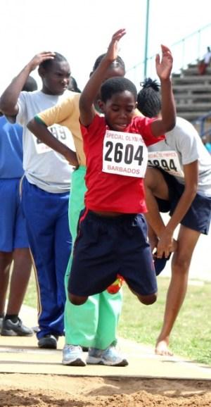Jabarry Reid of Charles F. Broome won the boys long jump.