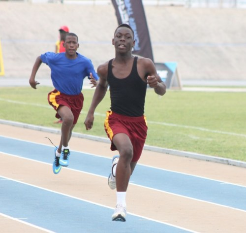 Jamal Brathwaite-Benskin slammed the field in the division three boys 200m.