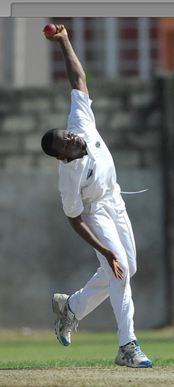 Jomel Warrican captured eight wickets.