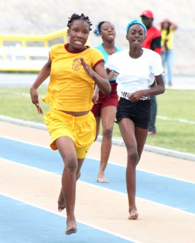 Nefertari Holder of Johnson House won the division three girls 200m easily.