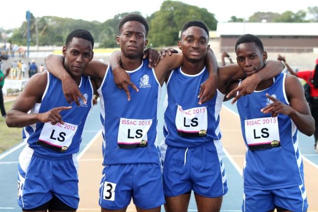 The Lodge School's dynamic 4x400m relay team.