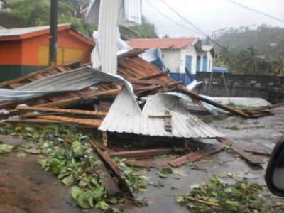 Many houses were affected.