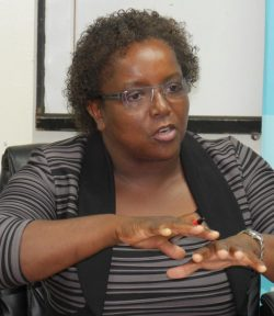 Acting director of the Coastal Zone Management Unit Lorna Inniss