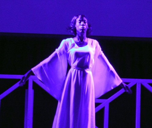 Second runner-up Nakira Goddard peforming her dance to the song Concrete Angel, which won her Best Talent.