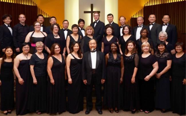 Toronto Cantata Chorus with director Maestro Tak Ng Lai at centre front.