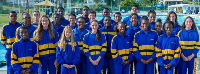 Barbados' CARIFTA swimmers.