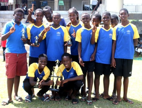 Pro Shottas won the under-15 Barbados Football Cup.